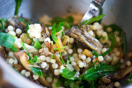 Israeli Couscous Salad with Roasted Mushrooms, Herbs & Pickled Golden ...
