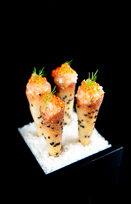 Salmon Tartare Asian Salmon Tartare Cornets With