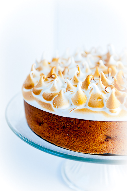 Lemon-Olive Oil Cake with Toasted Meringue | Zen Can Cook
