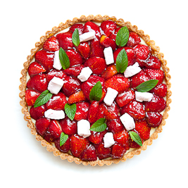 Strawberry-Marshmallow Tart