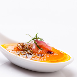 "Cold Carrot Soup ""Myhrvold"" (Herbivoracious)"