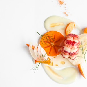 Lobster, Fennel, Orange and Persimmon