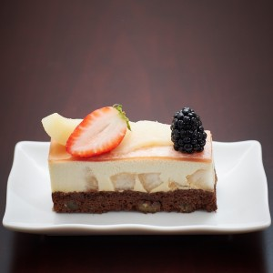 Pear & Oolong Mousse Cake