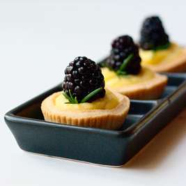 Pastry Cream and Blackberry Tartlettes (Red Shallot Kitchen)
