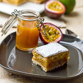 Passion Fruit & Lime Bars (Cuisine Addict)