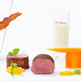 Roasted Roe Deer Loin (Andreas Caminada via Fine Dining Lovers)