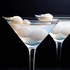 """Eye of the Dragon\"" Lychee Martini (Pixelated Crumb)"