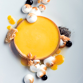"Passion Fruit ""Tart"", Argan Oil & Meringue (Alex Stupak via Starchefs)"