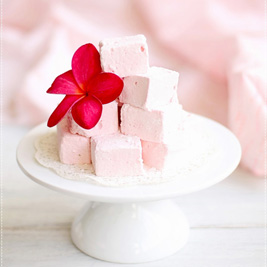 Strawberry Orange Flower Marshmallows