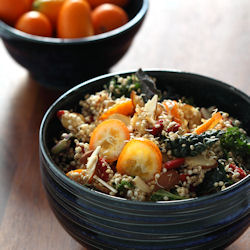 Sprouted Quinoa Salad - Raw, Vegan, Gluten-Free