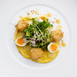 Smoked Haddock Kedgeree, Quails Eggs and Curried Mayonnaise (The British Larder)