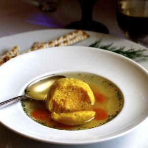 Saffron Matzoh Ball Soup