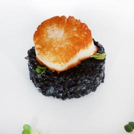 Sea Scallop with Squid Ink Risotto