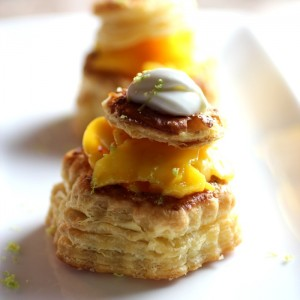 Mango & Lime Cream Vol-au-Vent