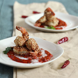 Quinoa Crusted Coconut Shrimp