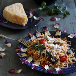artichoke & asparagus capellini