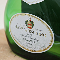 Hans Wirsching, Iphöfer Kronsberg Silvaner, paired with farro, sweet peas and ricotta