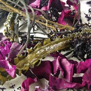 Mix of dried seaweed