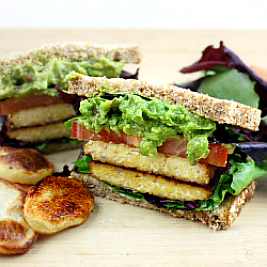 TLT – Tempeh, Lettuce, and Tomato Sandwich