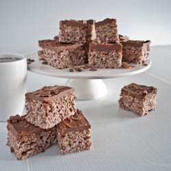 Coco Pop Marshmallow Krispies with Chocolate Nutella Icing