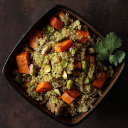 Sweet Potato & Pistachio Quinoa Salad