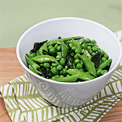 Fresh peas with basil and mint