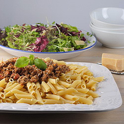 Jools's Pasta, Crunchy Chicory & Watercress Salad