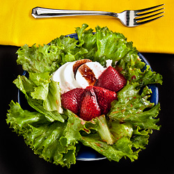 Roast Strawberry Salad