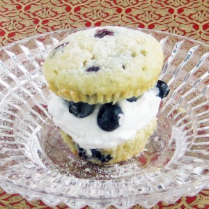 Blueberry Lemon Shortcake Muffins