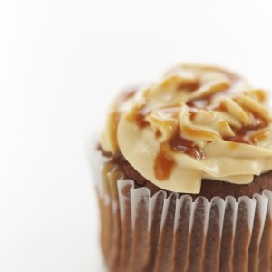 Salted Caramel & Chocolate Cupcakes