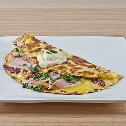 Ham, Cheese & Sundried Tomato Omelette