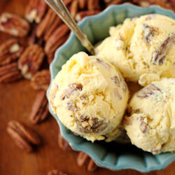 Browned-Butter Pecan Ice Cream