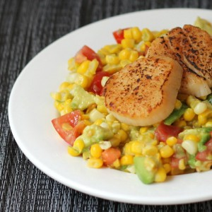 Scallops on Corn Salad