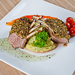 Almond and Parsley Crusted Rack of Lamb