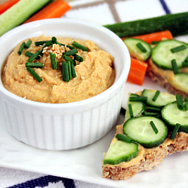 Asian-Style Spicy Roasted Garlic Hummus