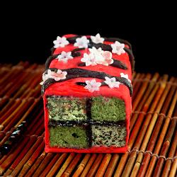 Japanese Inspired Battenberg Cake