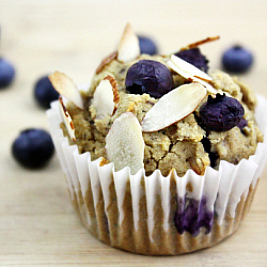 Guilt-Free Blueberry Almond Muffins