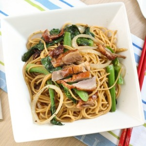 Spaghetti with Duck in Black Pepper Sauce