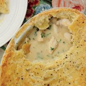 Chicken and Mushroom Pie with cheddar shortcrust