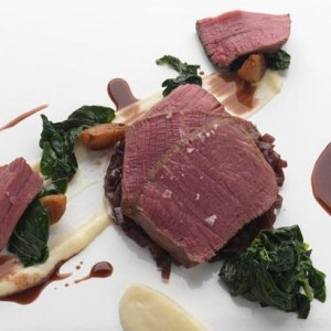 Fillet of Beef, shallots marmalade and celeriac puree