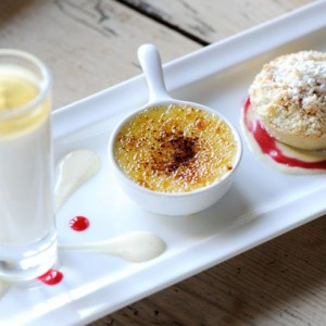 Trio of Apple desserts