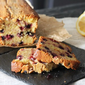 Lemon, Almond & red fruits tea cake