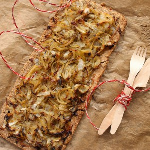 Chicory and onions tart