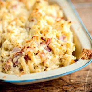 Macaroni ham \'n\' cheese