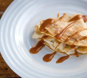 Banana & toffee pancakes