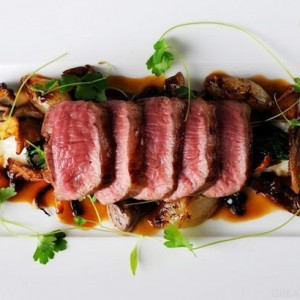Lamb loin with Parmesan risotto