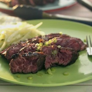 Lime marinated flank steak