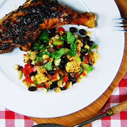 Grilled Corn & Black Bean Salad