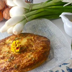 Tuscan Farmhouse Frittata with Lavender Cream