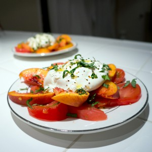 Peach & Burrata Caprese Salad